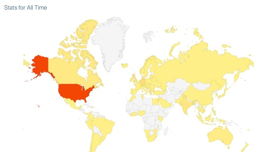 Map of Readers of Blog