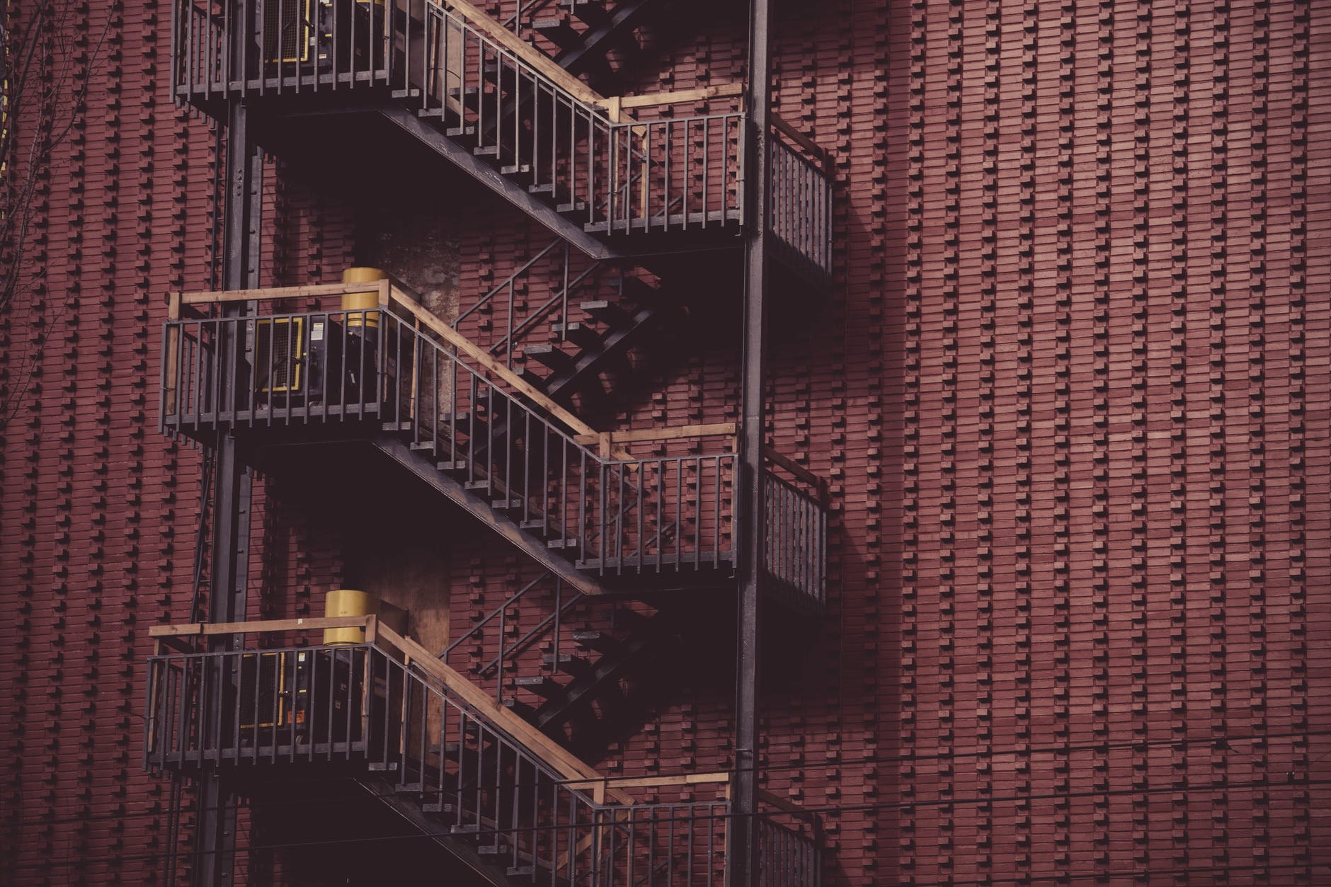 architecture building fire exit ladders ladder