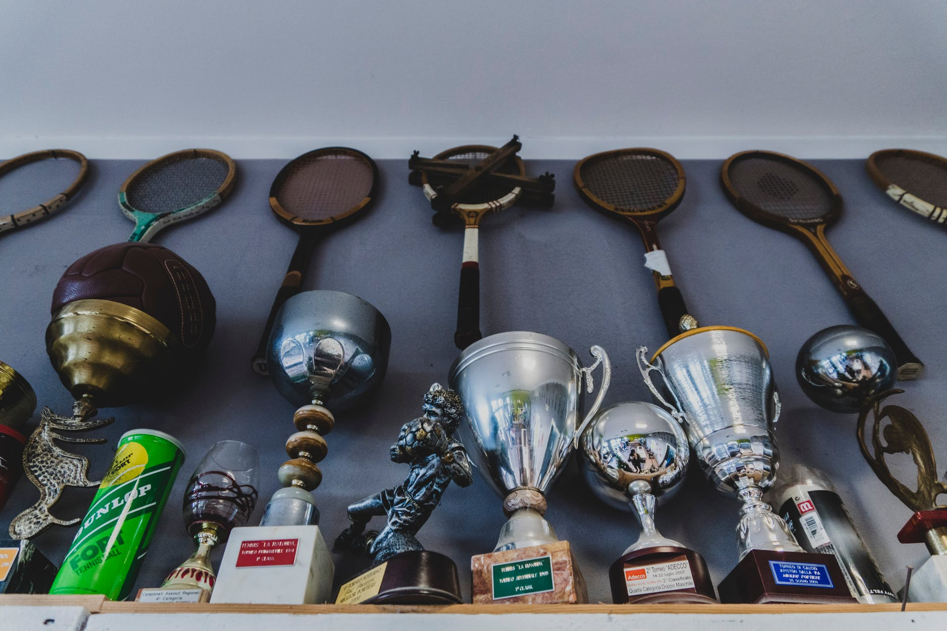 assorted trophies