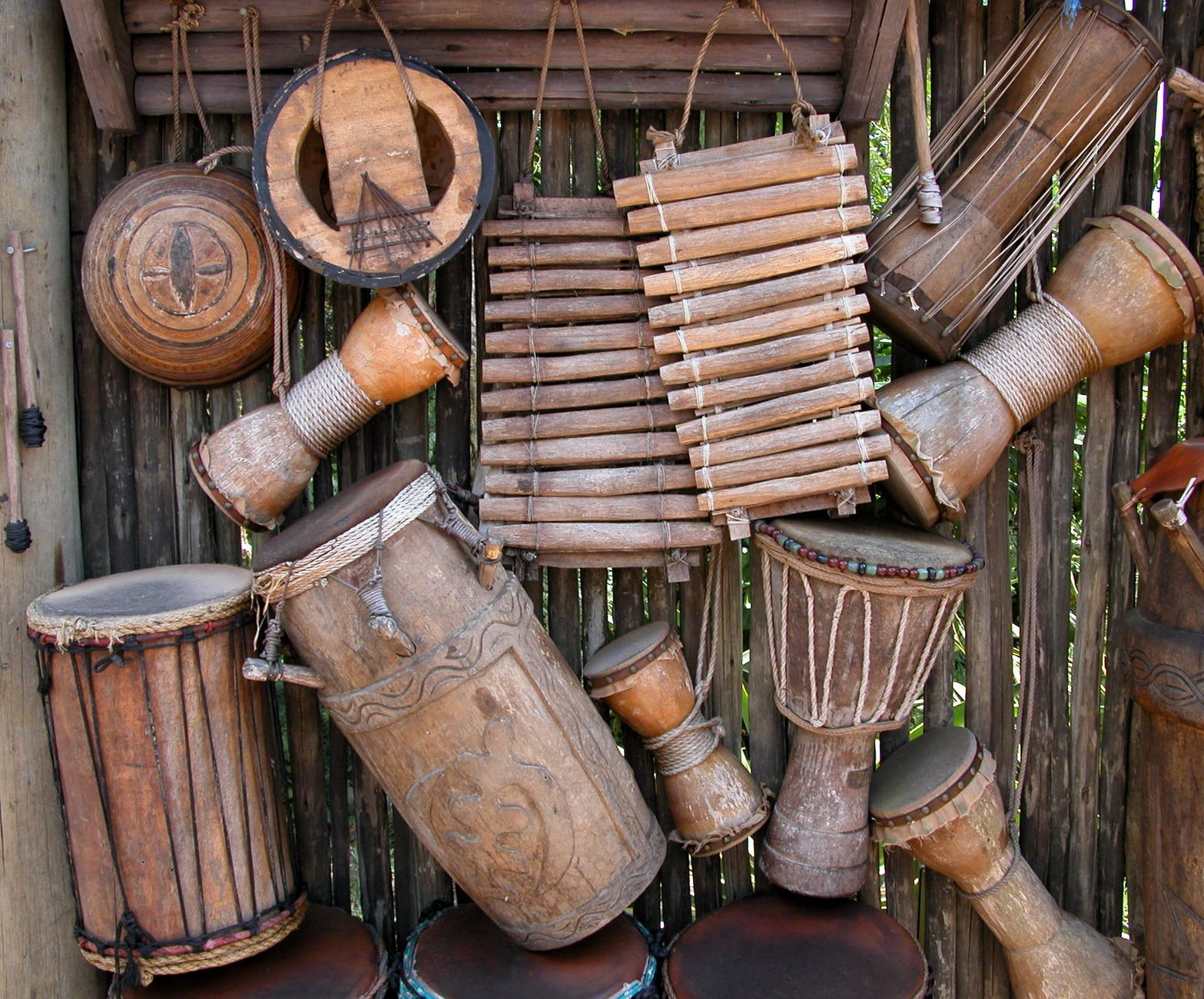 brown wooden percussion instruments