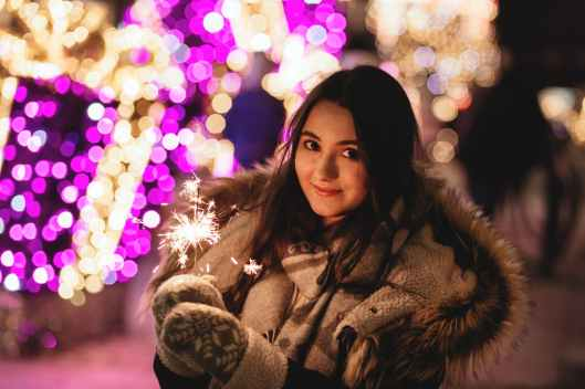 beautiful christmas fashion female