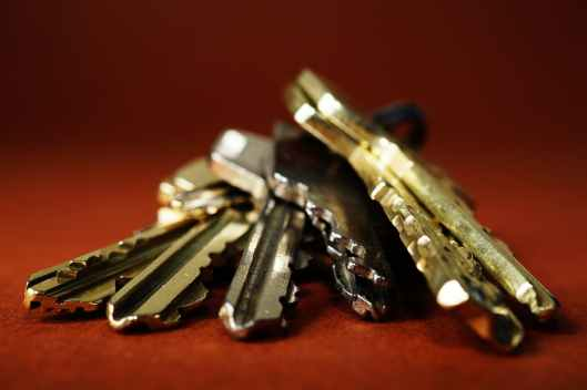 close up keys metal safety