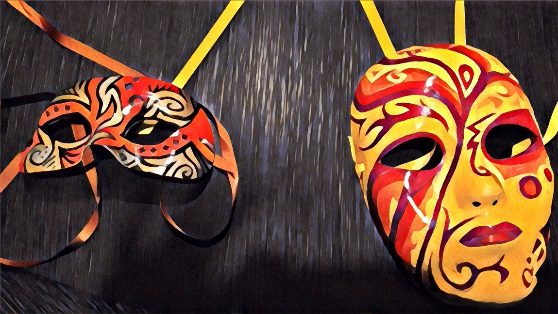 Original Masks by Sarah Morgan