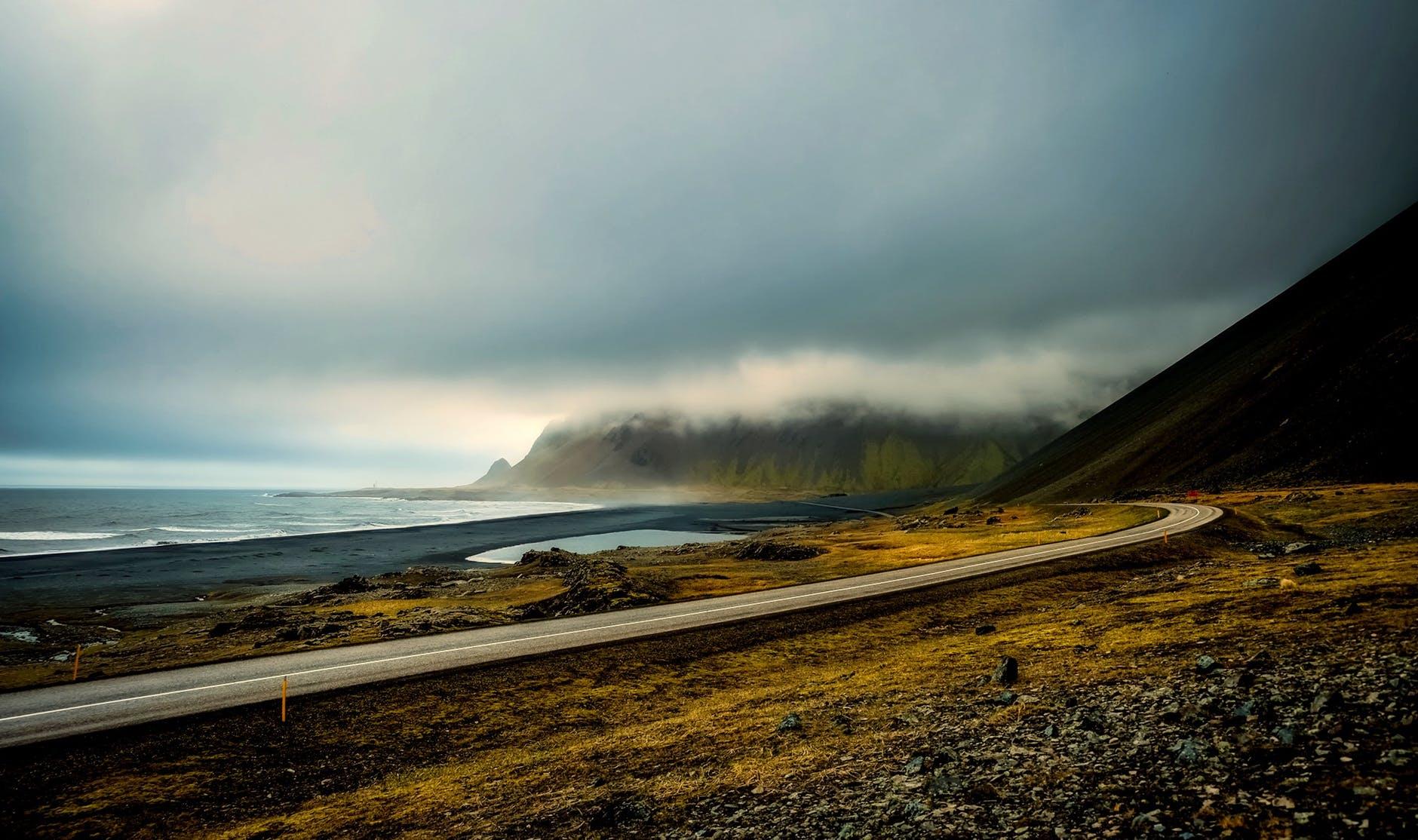 beach beautiful clouds countryside