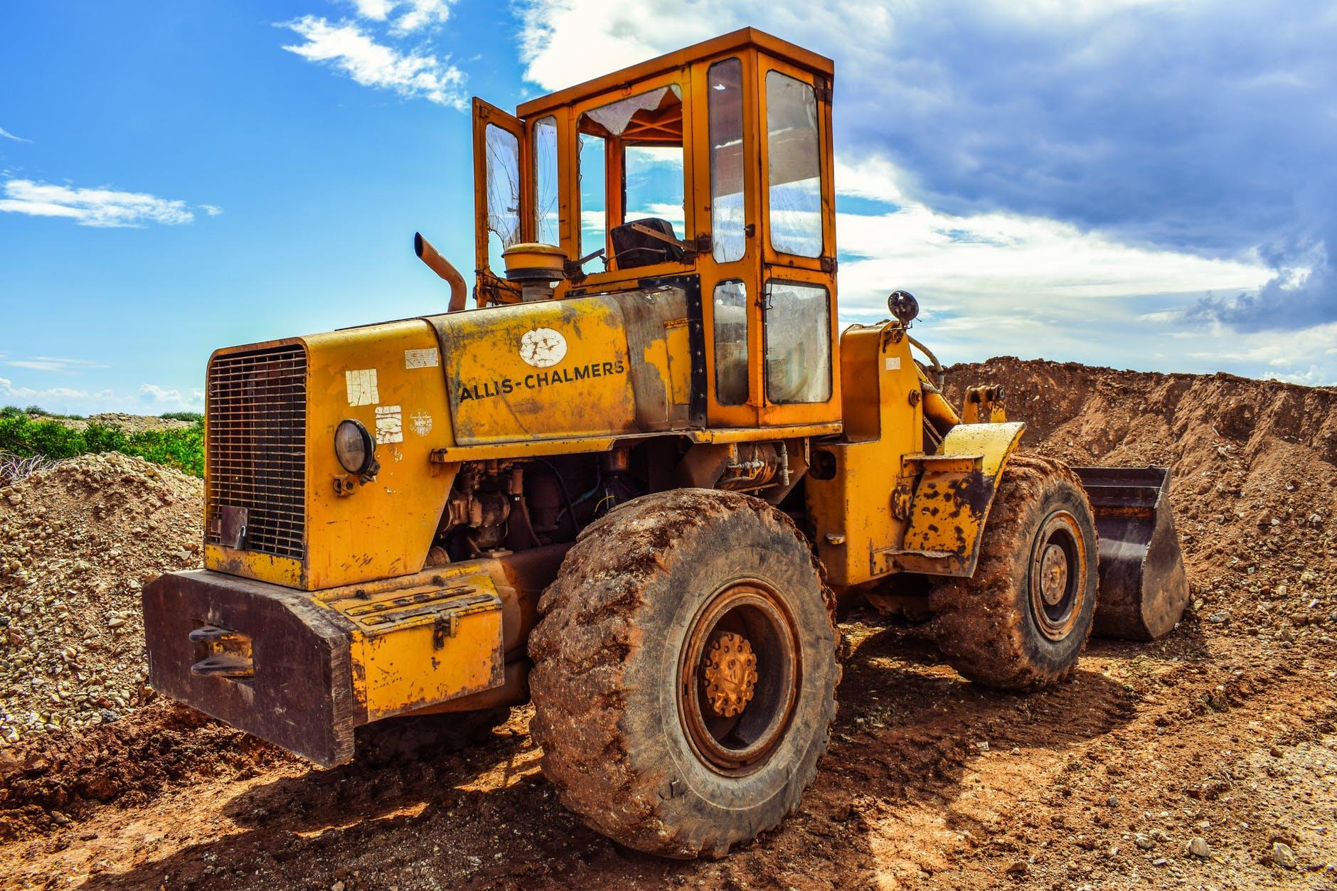 bulldozer engine equipment heavy